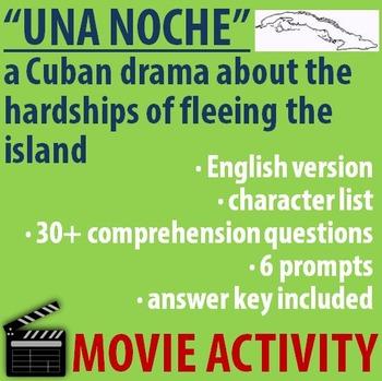 "Spanish MOVIE Activity- ""Una noche"" - a Cuban Drama - ENGLISH version"