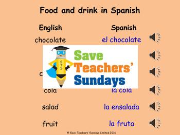 Spanish Masculine & feminine Lesson plan, PowerPoint (with audio) & Worksheet