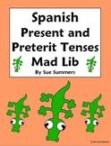 Spanish Mad Lib Present/Preterit Writing Activity - Spanis