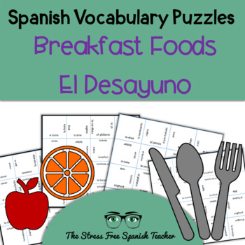 Spanish Magic Squares Breakfast foods and vocabulary
