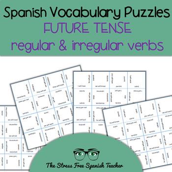 Spanish Magic Squares FUTURE Verb Tense: Regular and Irreg