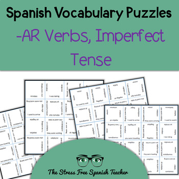 Spanish Magic Squares, Regular -AR Verbs in the Imperfect,