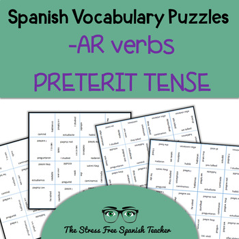 Spanish Vocabulary Puzzle Regular -AR Verbs in the Preterit Tense