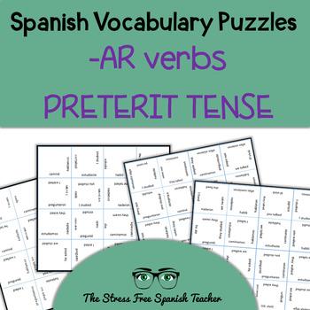 Spanish Magic Squares, Regular -AR Verbs in the Preterit,
