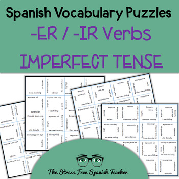 Spanish Vocabulary Puzzle Regular -ER / -IR Verbs in the Imperfect