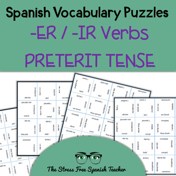Spanish Magic Squares, Regular -ER / -IR Verbs in the Pret