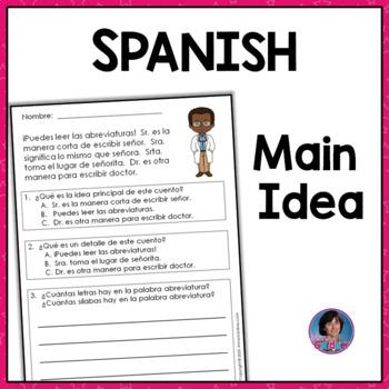 Spanish Main Idea