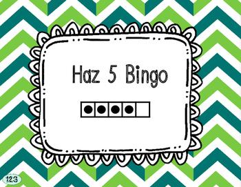 Make 5 Bingo - Spanish