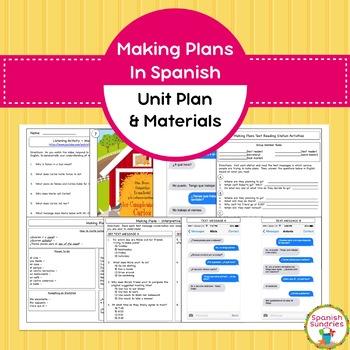 Spanish Making Plans Unit