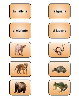 Spanish Mammals or Reptiles Sort