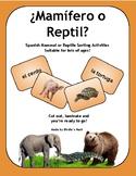 Spanish Mammals or Reptiles Sort