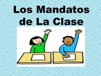 Spanish Mandatos de la Clase/Classroom Commands