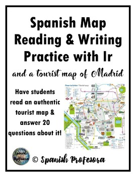 Spanish Map Reading & Writing Practice with Ir