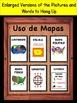 Spanish Map Skills Vocabulary Interactive Notebook