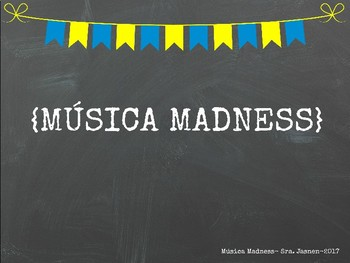 Spanish March Madness Music Bracket