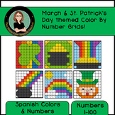 Spanish March Mystery Pictures! Color By Number / Grids for St Patrick's Day!