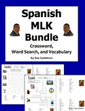 Spanish Martin Luther King Day Bundle - Word Search, Crossword, and Vocabulary