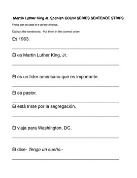 Spanish Martin Luther King Jr. Activity Collection