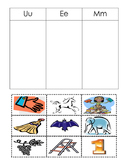 Spanish Matching pictures to Sounds Montessori
