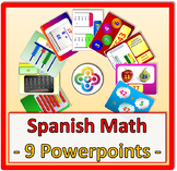 Spanish Math: 9 Powerpoints