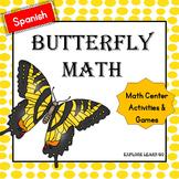 Spanish Math Center Butterfly Bundle / Hands-on Activities / Montessori Style
