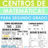 Spanish Math Centers! Seven Activities for 2nd Grade!