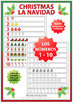 Spanish Math Christmas Worksheets - Counting Numbers 1 to 10