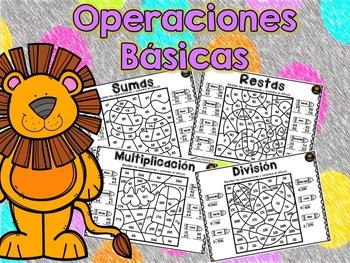 Spanish: Math Color by Code Season
