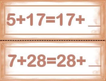 Spanish Math Commutative Property / Propiedad Conmutativa in a Station