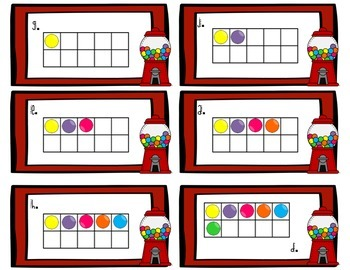 Spanish Math - Count the Gumballs