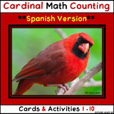 Spanish Math Counting Cards & Activities 1 - 10 / Cardinals / Montessori Style