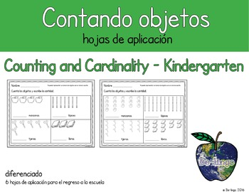 Spanish Math - Counting Objects to Represent Numbers Back