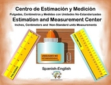 Spanish Math Estimation and Measurement / Estimacion y Medicion in a Station