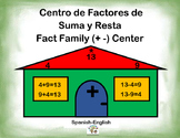 Spanish Math Fact Families / Factores en Suma y Resta in a Station