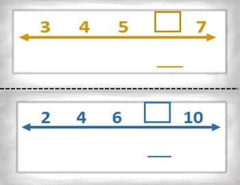 Spanish Math Find the Missing Numbers / Busca El Numero que Falta in a Station