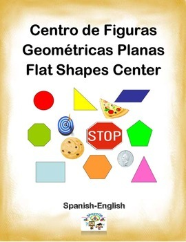 Spanish Math Flat Shapes / Figuras Planas in a Station / Center Activity