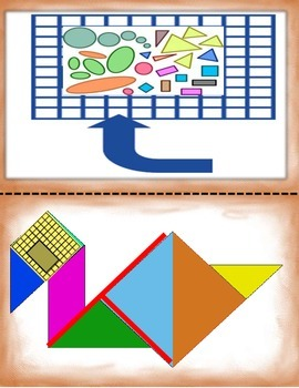 Spanish Math Flat Shapes II / Figuras Planas II in a Station / Center Activity