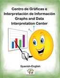Spanish Math Graphs and Interpretation / Graficas e Interpretacion  in a Station