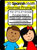 Spanish Math Journal Prompts – Double-Digit and Triple-Digit Addition
