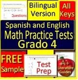 4th Grade Math in Spanish and English - Bilingual Test Prep