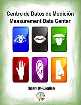 Spanish Math Measurement Data / Datos de Medicion in a Station / Center Activity