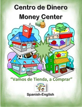 Spanish Math Money / El Dinero in a Station / Center Activity