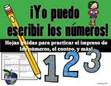 Spanish Math - Number Practice 1-20