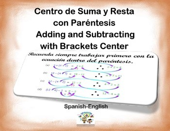 Spanish Math Operations with Brackets / + y - con Parentes