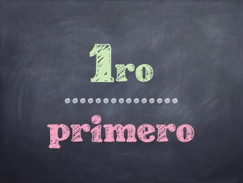 Spanish Math Ordinal Numbers PowerPoint