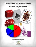 Spanish Math Probability / Probabilidades in a Station / Center Activity