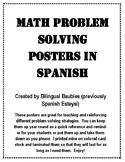 Spanish Math Problem Solving Posters
