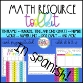 Spanish Math Reference Tools Number Lines, 120s Chart, Ten