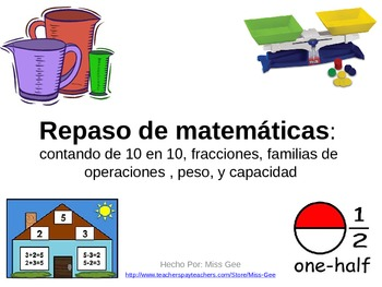 Spanish Math Review Powerpoint Game