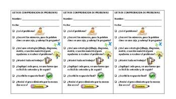 Spanish Math Rubric